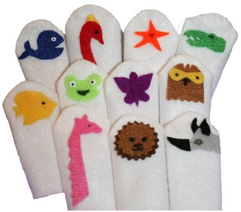We Are Colourul Friends Finger Puppets
