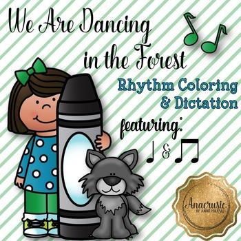 We Are Dancing Coloring/Dictation Page (ta & ti-ti prep &