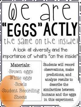 We Are EGGSactly the Same on the Inside: An EGGSperiment in Diversity