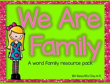 We Are Family-A Word Family Pack