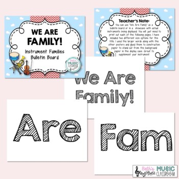 We Are Family! Instrument Families Music Bulletin Board