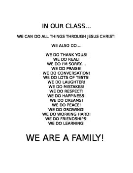 We Are Family (for Classroom Door)