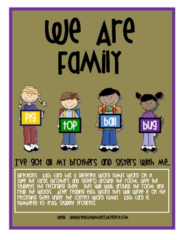We Are Family...Word Families