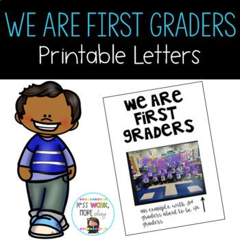 We Are First Graders Letters to Print