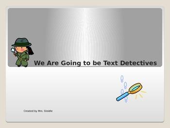 Text Detectives-Improve Comprehension & Test Taking Skills Ppt