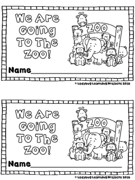 We Are Going To The Zoo!  (A Sight Word Emergent Reader)