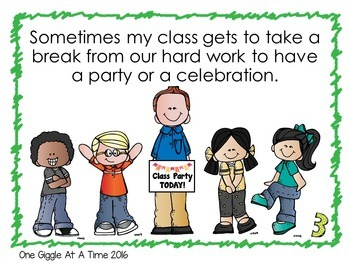 We Are Having A Party In Our Classroom (A Social Story)