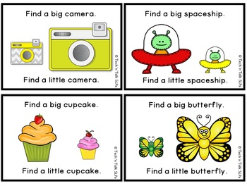We're Learning Basic Concepts:  Big/Little Interactive & Printables