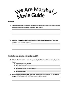We Are Marshall Movie Guide