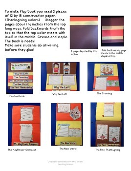 We Are Pilgrims! A Simulation with an Interactive Flap Book!