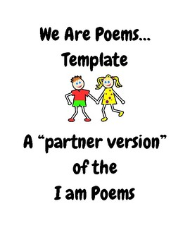 """We Are Poems Template- """"I Am Poems"""""""