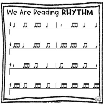 We Are Reading Rhythm Play Along Charts