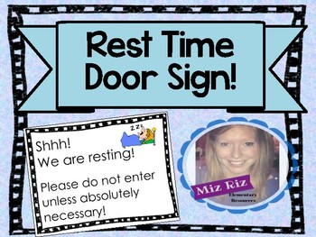 """We Are Resting!""  Rest/Nap Time Sign for Door!"