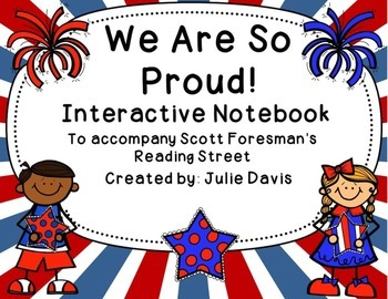 We Are So Proud! Interactive Notebook Journal