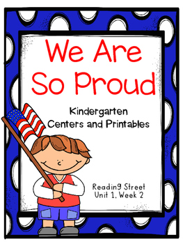 We Are So Proud, Kindergarten, Centers and Printables ...