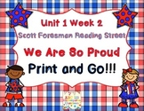 We Are So Proud! - Print and Go Reading Street Unit 1 Week 2