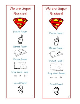 We Are Super Readers Bookmark