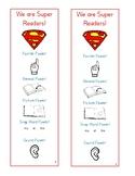 We Are Super Readers Bookmark