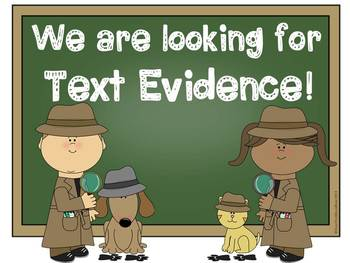 We Are Text Detectives! Text Evidence Comprehension Displays & Question Stems
