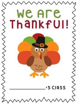 "We Are Thankful ""Class Book"" {Freebie!}"