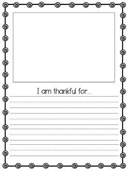 We Are Thankful Class Book {Freebie!}