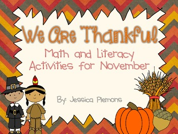 We Are Thankful Math and Literacy Activities for Thanksgiving