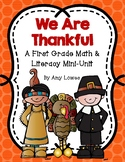 We Are Thankful Thanksgiving Math and Literacy Mini-Unit