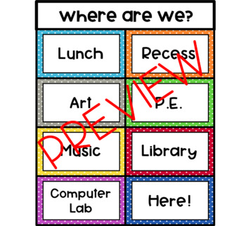 Where Are We? Sign Editable