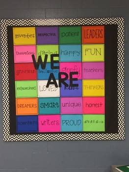 We Are bulletin board