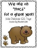 """We Are on """"Track"""" For a Great Year Little Debbie Gift Tags"""