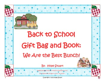 Back to School Gift Bag and Book: We Are the Best Bunch!