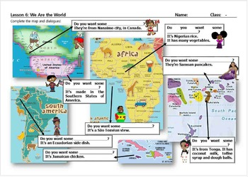 We Are the World PowerPoint accompaniment worksheet