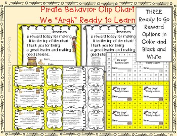 """We """"Argh"""" Ready to Learn - Pirate Themed Behavior Clip Chart"""