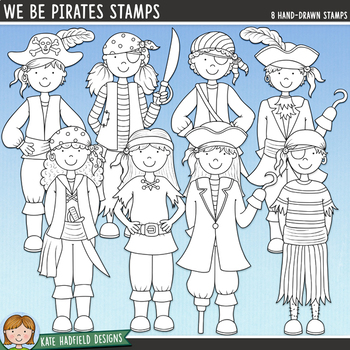 "Pirates Clip Art: ""We Be Pirates"""