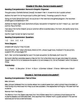 we beat the street chapters 1 6 answer guide by angela daniels tpt rh teacherspayteachers com The Journey We Beat the Streets we beat the street study guide answers