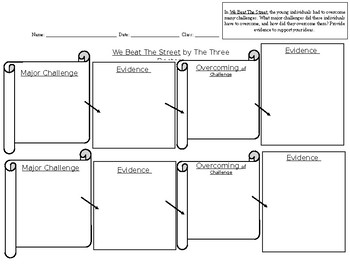 We Beat The Street Graphic Organizer (Overcoming Challenges)