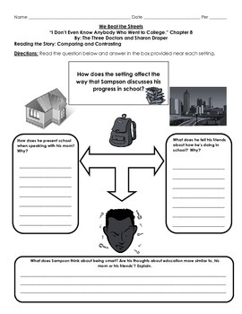 We Beat the Street Chapter 8 Graphic Organizer and Questions