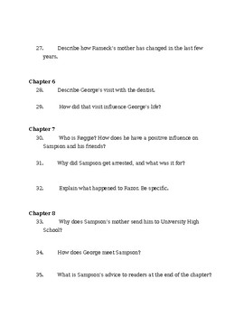 We Beat the Street Study Guide, Chapters 1-9