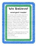 We Believe! Football Seahawks Emergent Reader