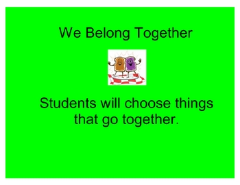 We Belong Together- Grouping Objects