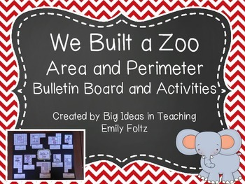 Area and Perimeter Bulletin Board and Center Games FUN!!!