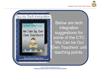 We Can Be Our Own Teachers: Reader's Workshop iPad Tech Integration