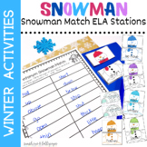 Winter Activities Snowman Themed Stations for First Grade
