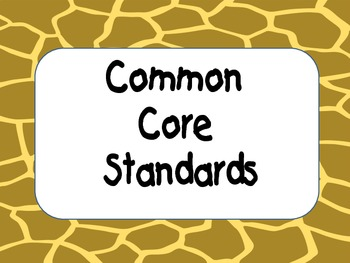 We Can Common Core Objective Board