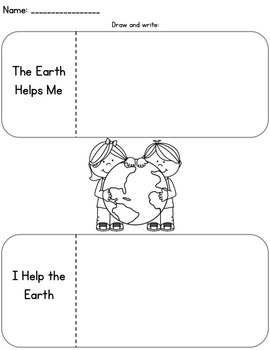 We Can Help Our Earth: Editable Earth Day Craftivity
