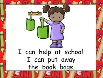 We Can Help at Our School Shared Reading for Kindergarten
