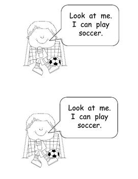 We Can Play Sports- Kindergarten Emergent Reader book