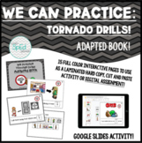 We Can Practice Tornado Drills! Adapted Book/Social Story