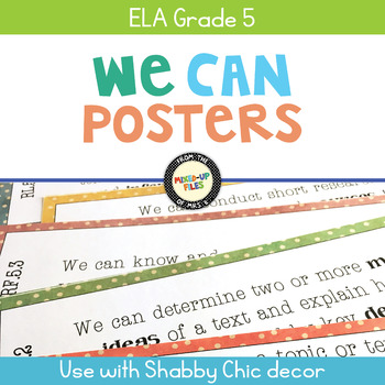 We Can Statements 5th Grade ELA