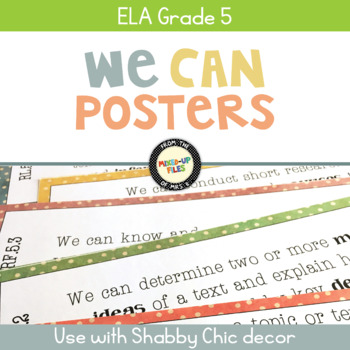 ELA Standards We Can Posters 5th